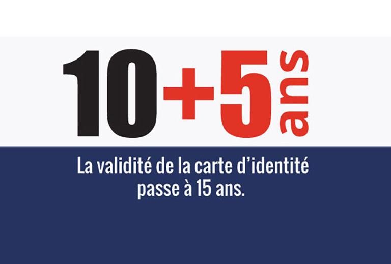 carte nationale d'identité 10 + 5 ans