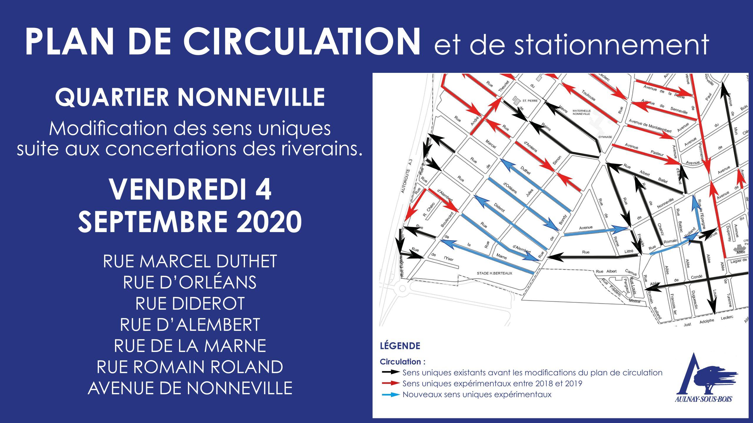 Plan de circulation et de stationnement 4 septembre 2020