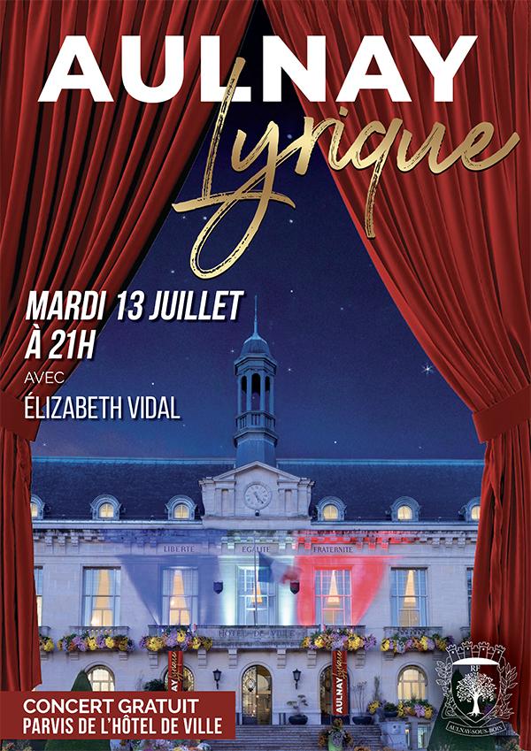 Aulnay lyrique le 13 juillet 2021 - Parvis de l'Hôtel de ville